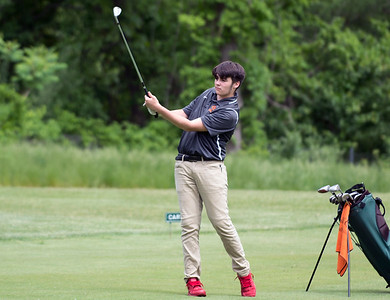 05/29/19  Wesley Bunnell | Staff  New Britain golf competed along with Berlin and Goodwin Tech in the Stan Pisk Memorial Golf Tournament on Wednesday afternoon at Stanley Golf Course.  Goodwin Tech's Christian Molina.