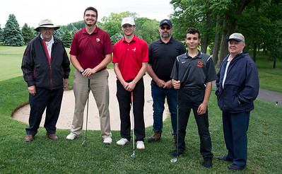 05/29/19  Wesley Bunnell | Staff  New Britain golf competed along with Berlin and Goodwin Tech in the Stan Pisk Memorial Golf Tournament on Wednesday afternoon at Stanley Golf Course.  Stan Pisk's son Rotarian Ted Pisk, L,  New Britain's Arthur Bell,  Berlin's John Downs, Rotarian Michael Thompson, Goodwin Tech's Xavier Irrizary , and Rotarian Mike Gorzoch.