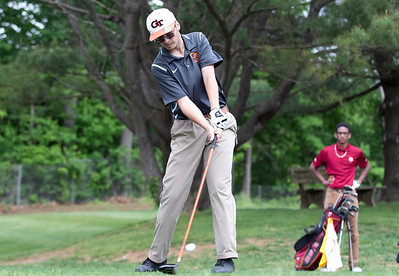 05/29/19  Wesley Bunnell | Staff  New Britain golf competed along with Berlin and Goodwin Tech in the Stan Pisk Memorial Golf Tournament on Wednesday afternoon at Stanley Golf Course. Goodwin Erik Meskimem.