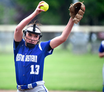 5/30/2019 Mike Orazzi | Staff Bristol Eastern's Erin Girard (13) during the Class L Second Round softball game in Bristol Thursday.