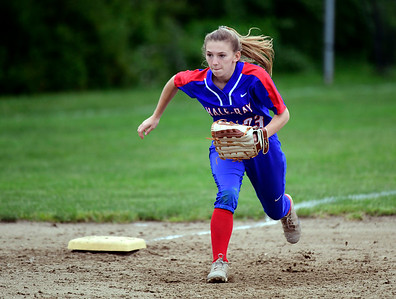 5/30/2019 Mike Orazzi | Staff Hale Ray's Carly Houle (23) during  a Class S Second Round softball game in Bristol Thursday with St. Paul.