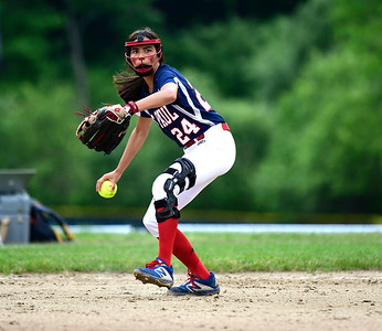 5/30/2019 Mike Orazzi | Staff St. Paul's Janessa Gonzalez (24) during a 6-4 win over Hale Ray in a Class S Second Round softball game in Bristol Thursday.