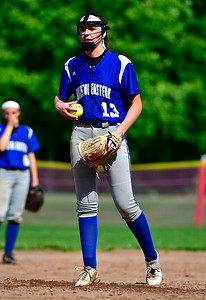 5/31/2019 Mike Orazzi | Staff Bristol Eastern's Erin Girard (13) in the Class L Quarterfinals softball game on Friday.