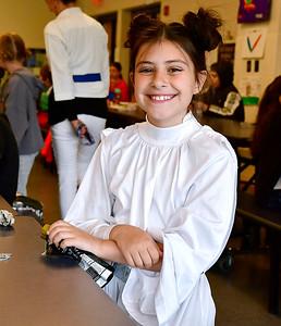 5/3/2019 Mike Orazzi   Staff West Bristol School's Ann Marie Beauchemin during Star Wars day on Friday.