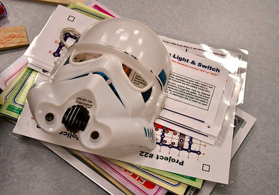 5/4/2019 Mike Orazzi | Staff Star Wars day activities at the Bristol Public Library on Saturday.