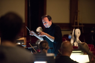 05/09/19  Wesley Bunnell | Staff  Conductor Adrian Sylveen leads the rehearsal of Don Carlo by Giuseppe Verdi on Tuesday evening at Trinity-On-Main Arts Center. The opera will feature 4 performances with the first this Friday May 10th at 7:30 at Trinity-On-Main.
