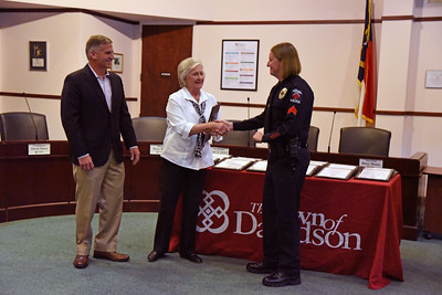 Members of the Cashion family recieved a Distinguished Service - Citizens & Community Partners Award. Chief Penny Dunn highlighted the Cashion's efforts to ensure that fuel remained available to first responder vehicles in the midst fuel shortages as Hurricanes Florence and Michael moved through our area in the summer of 2018.