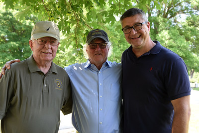 "Once a Marine, always a Marine. Tom Rynne, Bob Dornan, and Chris Coke all participated in the ""Flags In"" event honoring our town's veterans."