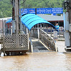 KEVIN HARVISON   Staff photo<br /> A dock at Eufaula Cove on Lake Eufaula is partially underwater.