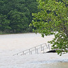 KEVIN HARVISON   Staff photo<br /> A dock on Lake Eufaula is partially underwater.