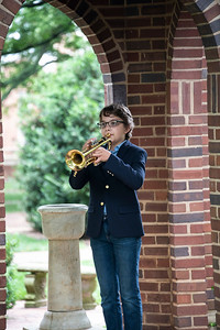 """Ben Mitchell, age 11, performed """"Taps"""" as a part of the """"Taps Across America"""" initiative. [Bill Giduz photo]"""