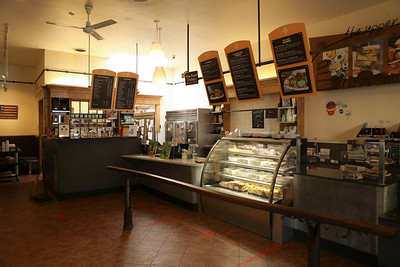 Upper Crust has been open for take-out. It is too soon for its owners to say when they will allow customers to dine in on Tuesday in Chico. (Carin Dorghalli -- Enterprise-Record)