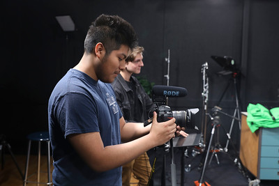 Alex Longcor-Booth and Jesus Chavez-Hernandez entered the 2020 Directing Change Suicide Prevention and Mental Health Matters Student Film Contest. Chavez-Hernandez came out a winner on Wednesday in Chico. (Carin Dorghalli -- Enterprise-Record)