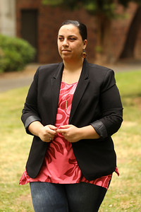 Ashlyn Weaver reflects on her time as an anthropology major at Chico State. She was selected as one of the two graduate student speakers for the 2020 commencement ceremony. She is the first in her family to obtain a master's degree. (Carin Dorghalli -- Enterprise-Record)