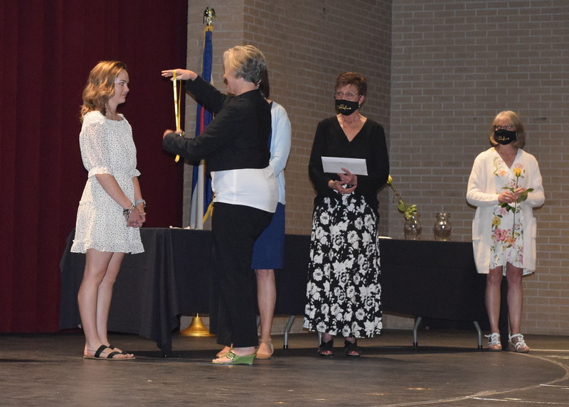 Molly Weatherill is pinned by her mother Stephanie Weatherill  at Northeastern Junior College's Associate Degree Nursing Pinning Ceremony Thursday, May 13, 2021.