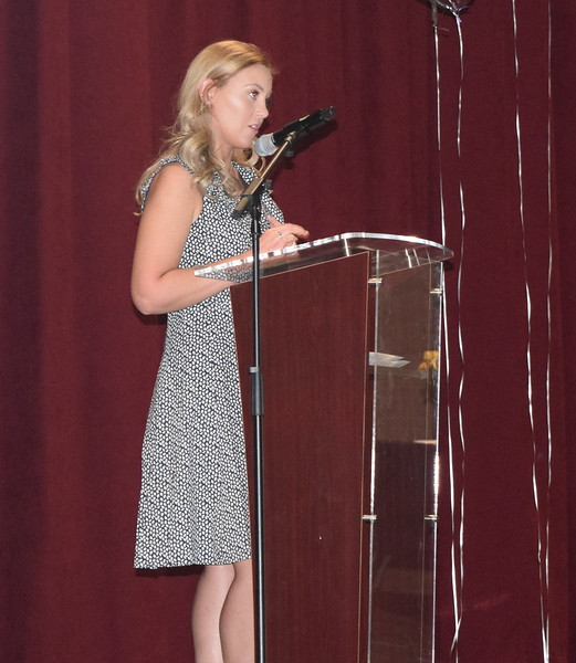Class president Kendra Moul speaks to her fellow graduates  at Northeastern Junior College's Associate Degree Nursing Pinning Ceremony Thursday, May 13, 2021.