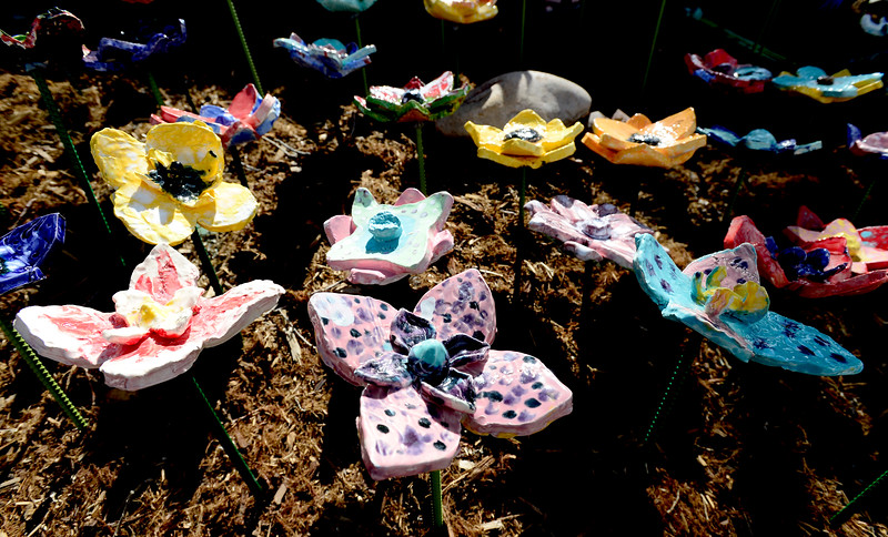 Lyons Elementary Ceramic Flowers