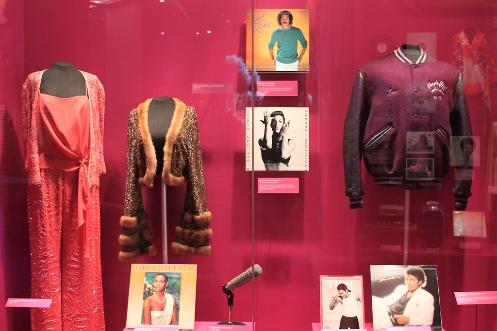 Prince, Michael Jackson, Lionel Richie, and Whitney Houston items