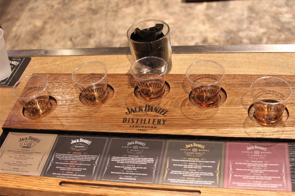 Jack Daniel's whiskey tasting