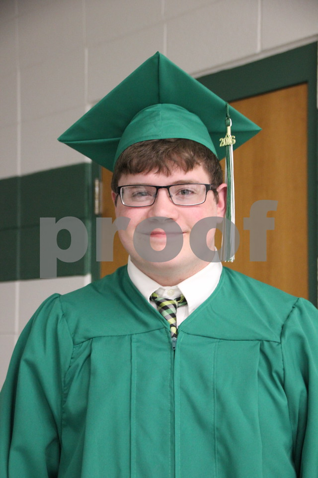 Pictured is: Austin Salgren, a graduate, of Saint Edmond High School which held commencement on Sunday, May 22, 2016 at the Saint Edmond High School in Fort Dodge.