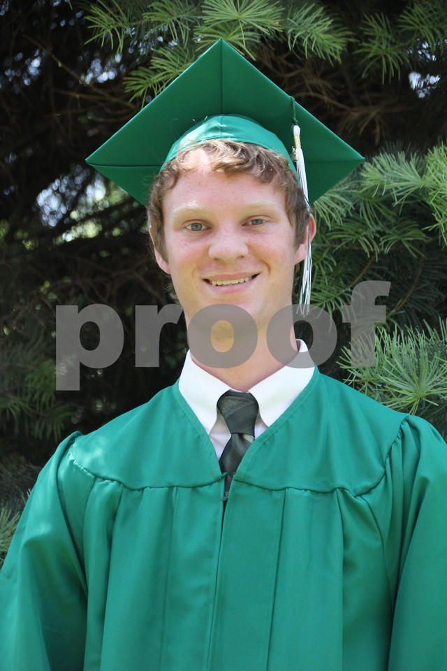 Seen is: Sam Blair, a graduate, of Saint Edmond High School which held commencement on Sunday, May 22, 2016 at the Saint Edmond High School in Fort Dodge.