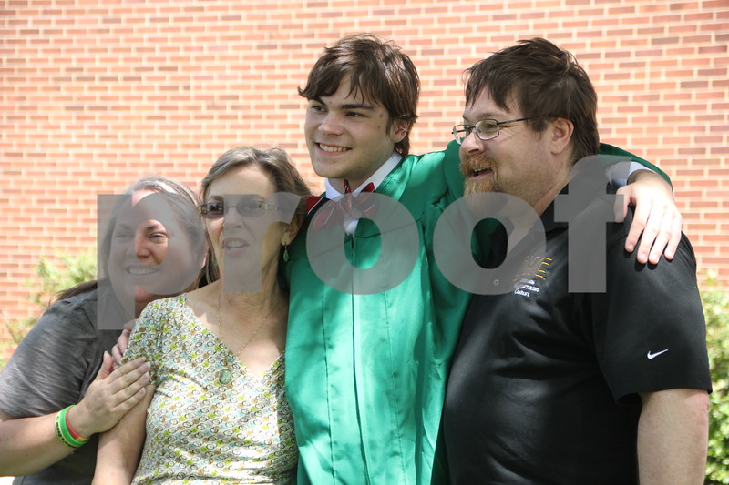 Pictured left to right is: Betsy Duarte, Ann Skillman, Jake Duarte(the graduate), and Andrew Duarte after the graduation ceremony for Saint Edmond High School which was held on Sunday, May 22, 2016 at the Saint Edmond High School in Fort Dodge.