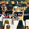 Members of the Hall High School Band perform at graduation ceremonies.