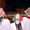 Decorated mortarboards show the creativity and spirit of graduating seniors at Hall High School.