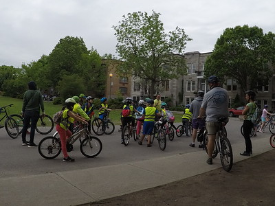 May 29 2018 Westmount Cycling Education trip to Old Montreal