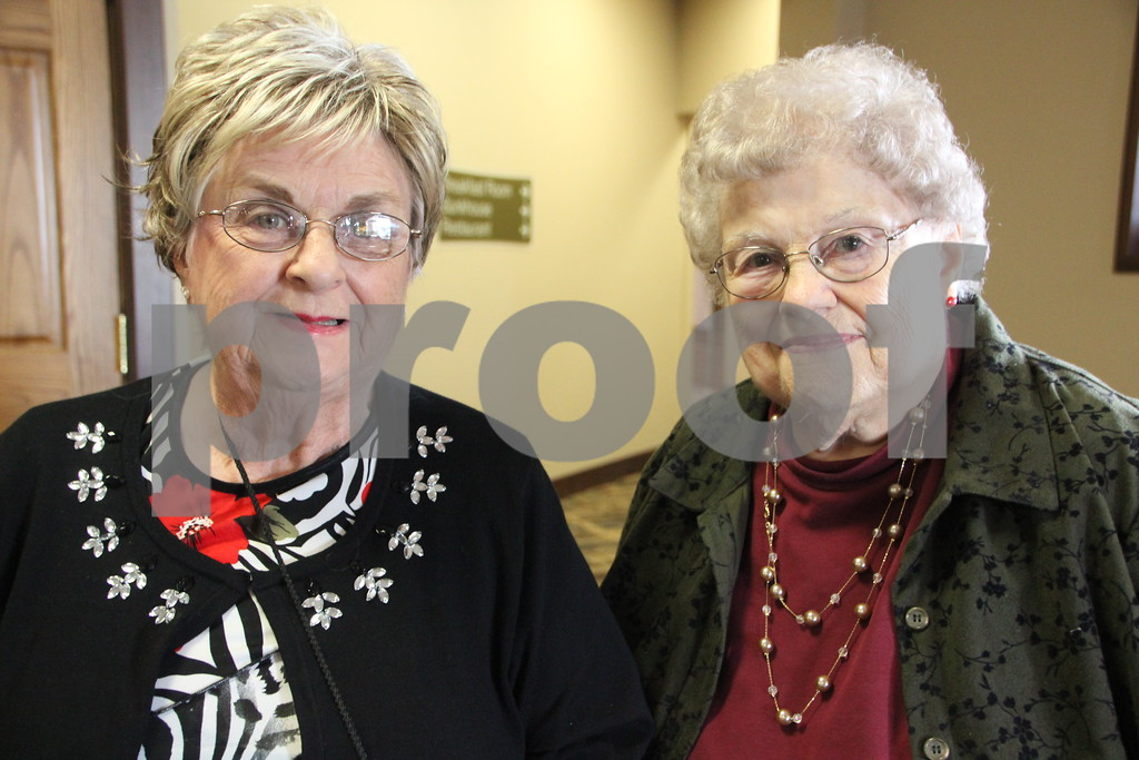 Saturday, May 7, 2016, the Friends of Saint Edmonds Ball took place at the Starlite Village in Fort Dodge. Pictured here (left to right)is: Bonnie Russell and Patty Williams who attended.