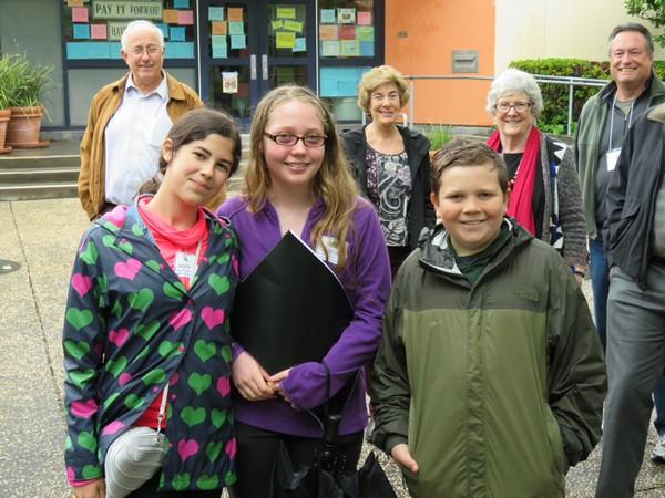 Kent History Club Walking Tour Guides: Adriana, Justine & Gavin