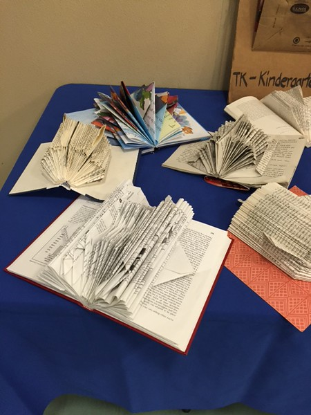 Bacich 4th Grade UpCycled Books Project