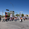 Hundreds participated in the Monday May Day march as they walk down the sidewalk along St. Michael's Drive as they went from the Somos Un Pueblo Unido office to Franklin Miles Park where a rally was held. Clyde Mueller/The New Mexican