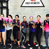 Showing their best boxing poses at Fist Fitness Gym in Westford in January are, from left, Danya Jung and Micaella Margala, both of Westford, Lindsay Whiteway of Billerica, Kristi Volante of Groton, Nathalie Nguyen and Monique Senarian, both of Westford, and Jackie Lemaitre