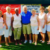 From left, at the Steve Ronan/Tom McKay Budweiser Jimmy Fund Golf Classic at Mount Pleasant Golf Club in August, are Susan Lindquist, Maryellen McCabe, Wilda Chapman, Chairman Jack and Elaine Rourke, and Sue Livingston, all of Chelmsford, and Karen Moynihan of Lowell