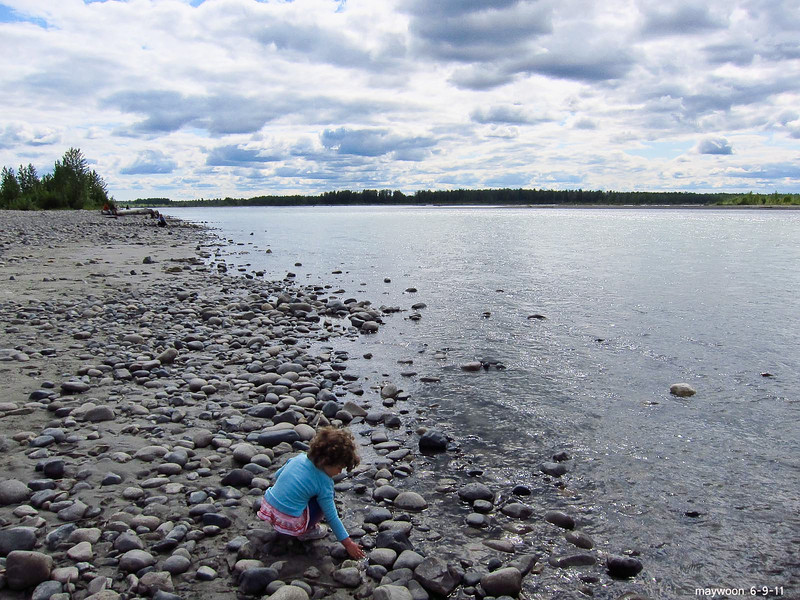 Talkeetna River -late afternoon 6-9-11
