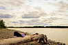 Talkeetna, AK 6-9-11 -Me laying on a log with this beautiful view of the Talkeetna River