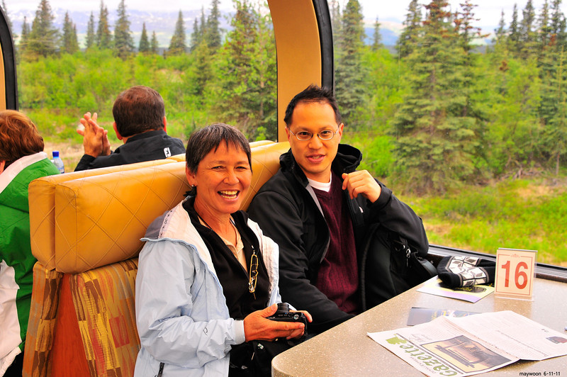 Dylan and Mom enjoying the Rail ride from Denali to Whittier 6-11-11