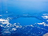 On Alaska airline going to Seattle -photo of Crater Lake 6-8-11