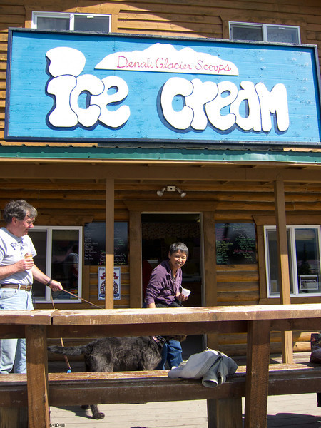 Across from Denali Lodge , Dylan and I stopped for ice cream 6-10-11