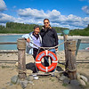 Dylan and Mom getting ready to hop on the Talkeetna River Jet Boat ride 6-14-11