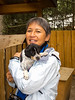 Musher Camp, me holding one of the Alaskan puppy 6-14-11