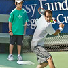 Pete Sampras and ball boy July 2007
