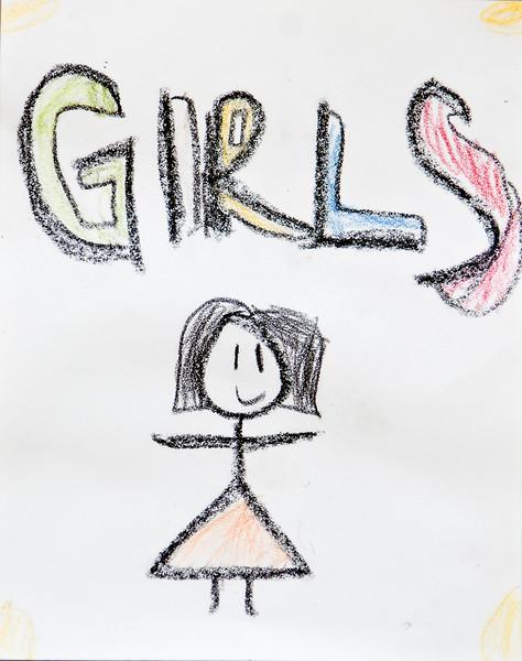 Sign for the girls restroom 8-23-08