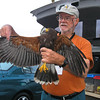 Bill Clark holding a Harris Hawk 3-31-06