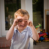 Sam closing and covering his eyes before he sees his surprise<br /> Birthday present from Grandma 10-10-08