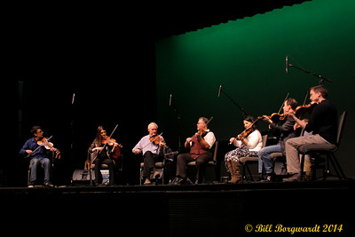 Seven fiddlers in the round - Calvin Vollrath 2014 Fiddle Gala