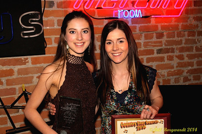 Nakita Kohan, winner, and Jessy Mossop, runner up - Star Search 2014