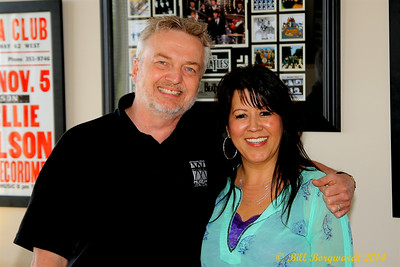 Boyd Leader, Director of Radio & country artist Darlene Olson - CFWE New Studio