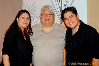"Stephanie Harpe, Bert Crowfoot, CEO of the Alberta Aboriginal Multi-Media Society and General Manager of CFWE, and Sean ""Blues Puppy"" Vaquelme - CFWE New Studio"